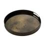 Kulatý podnos zrcadlový - Heavy Aged Bronze