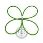 Stojan na deštníky Lucky, stříbrná/zelená