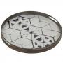 Kulatý podnos skleněný - Tribal Hexagon